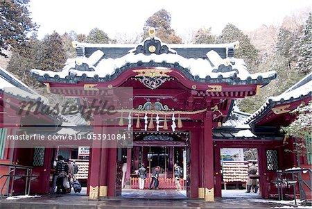 Japon, Hakone, lac Ashi, Hakone Gongen temple