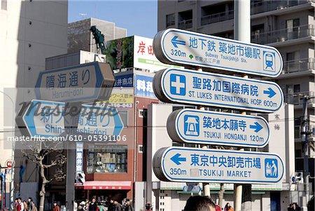 Japan, Tokyo, signs