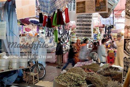 Marokko, Taroudant, daisies Suk