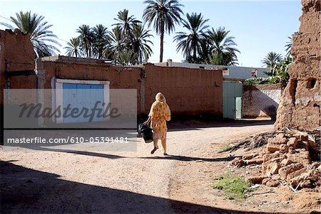 Maroc, rues de Tighmert