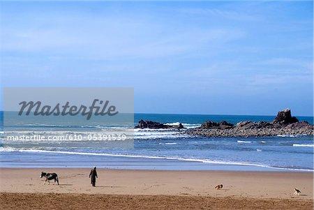Morocco, Sidi Ifni, beach of Legzira