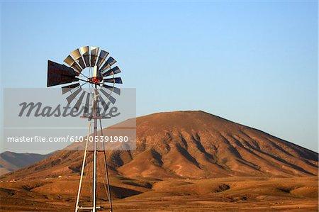 Spain, Canary islands, windmill