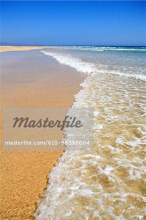 Espagne, Iles Canaries, la plage de Sotavento