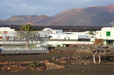 Espagne, Iles Canaries, Lanzarote, près de parc national de Timanfaya, Yaiza