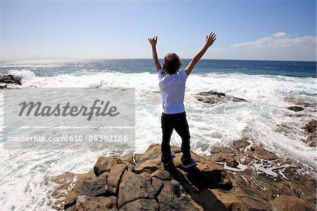 Îles d'Espagne, Canaries, Lanzarote, Playa blanca, Punta Pechiguera