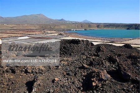 Espagne, Iles Canaries, Lanzarote, Salinas del Janubio