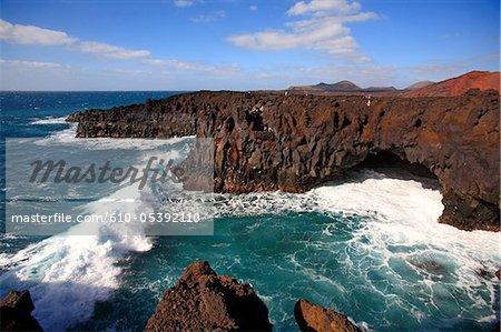 Espagne, Iles Canaries, Lanzarote, los Hervideros
