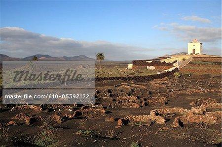 Spain, Canary islands, Lanzarote, near national park of Timanfaya, Yaiza