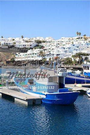 Spain, Canary islands, Lanzarote, puerto del carmen, the port