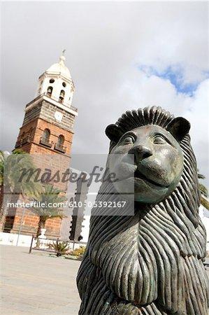 Espagne, Iles Canaries, Lanzarote, Nuestra senora église de guadalupe