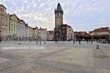 République tchèque, Prague, staromestske carré, tour de l'horloge