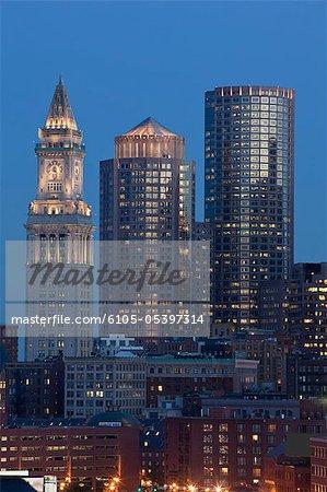 Buildings in a city, Custom House Tower, Boston, Suffolk County, Massachusetts, USA