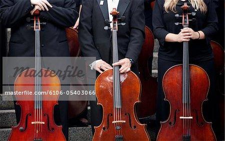 Drei Cello-Spieler