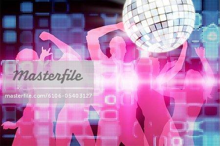 Disko, tanzende Menschen