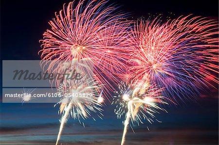 Unabhängigkeitstag Feuerwerkskörper in den Nachthimmel
