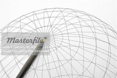 Bleistift und Wire frame
