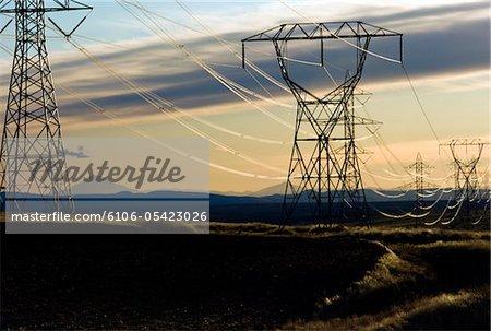 Hohe Stromleitungen, Oregon