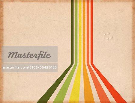 Retro Rainbow Paper
