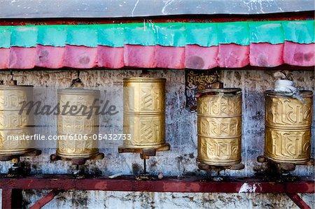Détail du Palais du Potala du Tibet