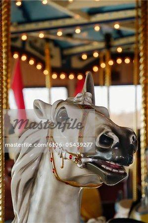 Nahaufnahme von Karussell Pferd