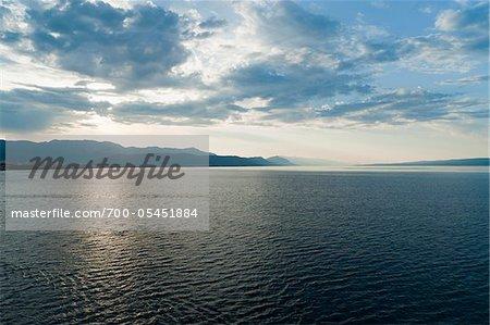 The sea and the coast near Split, Croatia, Europe.