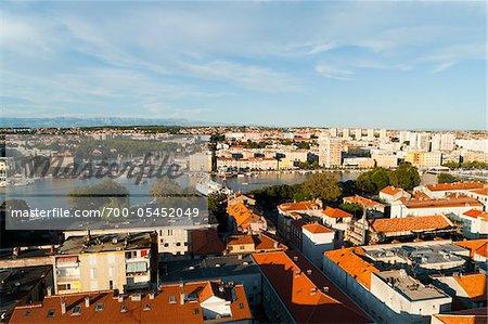 Überblick über die Stadt, Gespanschaft Zadar, Zadar, Dalmatien, Kroatien