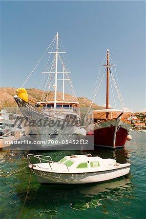 Hafen von Cavtat, Dubrovnik-Neretva County, Mitteldalmatien, Kroatien
