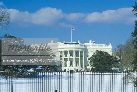 La maison blanche en hiver, Washington, D.C.