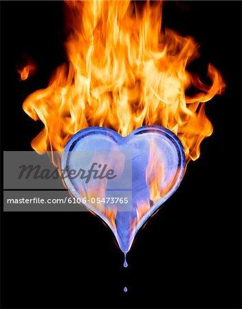 Eis Herzen in Flammen (digital Composite)