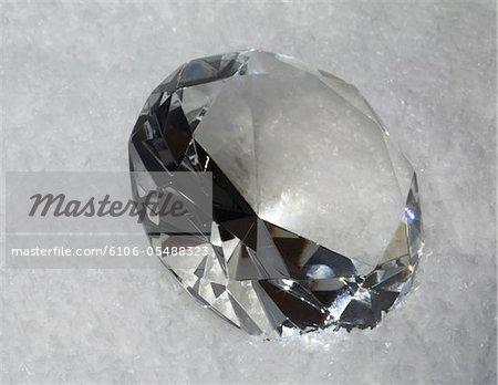 diamant en neige artificielle Studio-shot à Kupferzell 74635 (Allemagne) en verre avec EOS 5D