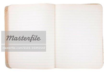 Alte Grunge Notizbuch Note Book Papierhintergrund