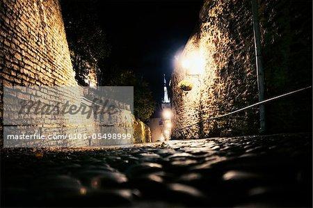 old town streets. tallinn.