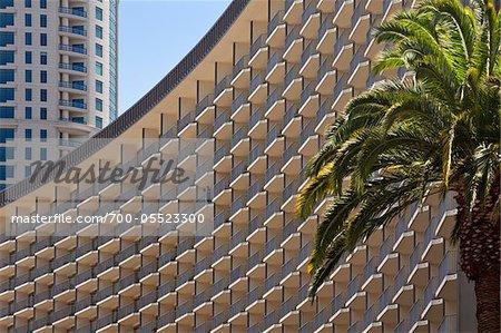 Close-Up of Century Plaza Hotel, Century City, Los Angeles, California, USA