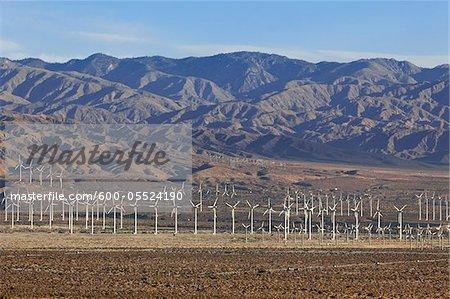 Wind Farm in Desert near Palm Springs, California, USA