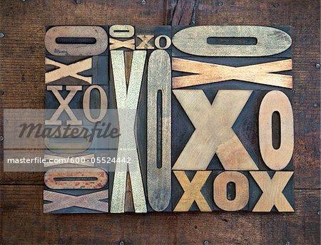 Typographie de x et de O