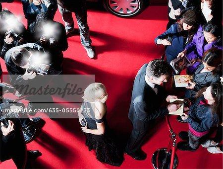 Célébrités sur le tapis rouge