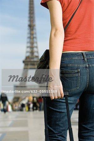 Touriste féminin, recadrée vue arrière