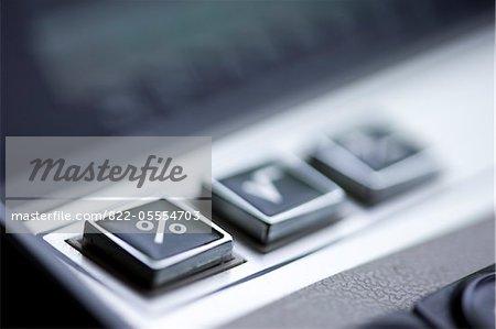 Keypad buttons on Vintage Calculator
