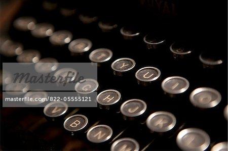 Typewriter Keys, Close-up view