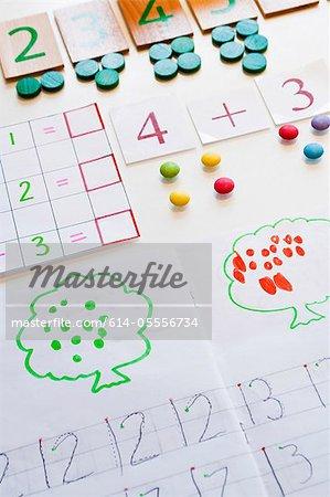 Équipements de mathématiques de l'enfant