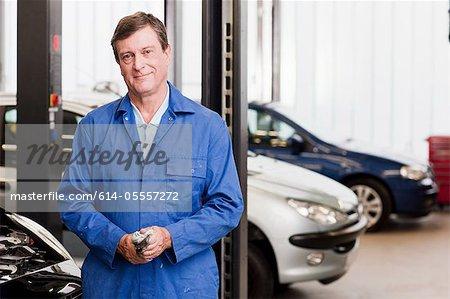Mature mechanic, portrait