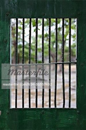 View through prison cell window at Con Dao Island, Vietnam
