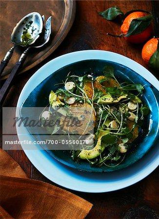 Salade avec tranches d'Orange
