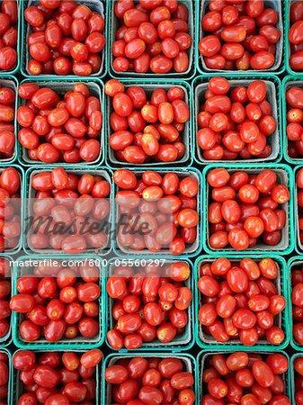 Cherry-Tomaten in St. Jacobs Farmers' Market, St. Jacobs, Ontario, Kanada