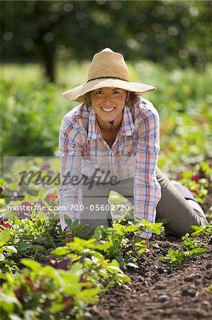 Portrait of Farmer Working on Organic Farm