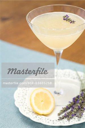 Martini lavande citron