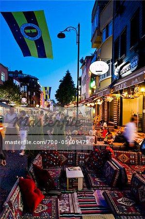 Restaurants in Sultanahmet District, Istanbul, Turkey