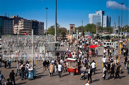 Taksim Square, Beyoglu District, Istanbul, Turkey