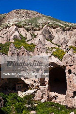 Wohnungen in Zelve archäologischen Site, Kappadokien, Nevsehir, Türkei
