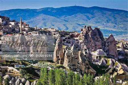 Rock Formation Wohnungen, Pigeon Valley, Kappadokien, Türkei